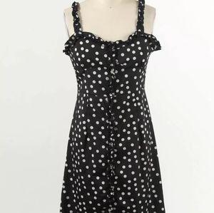 DDWM Women Black White Polka Dot Dress